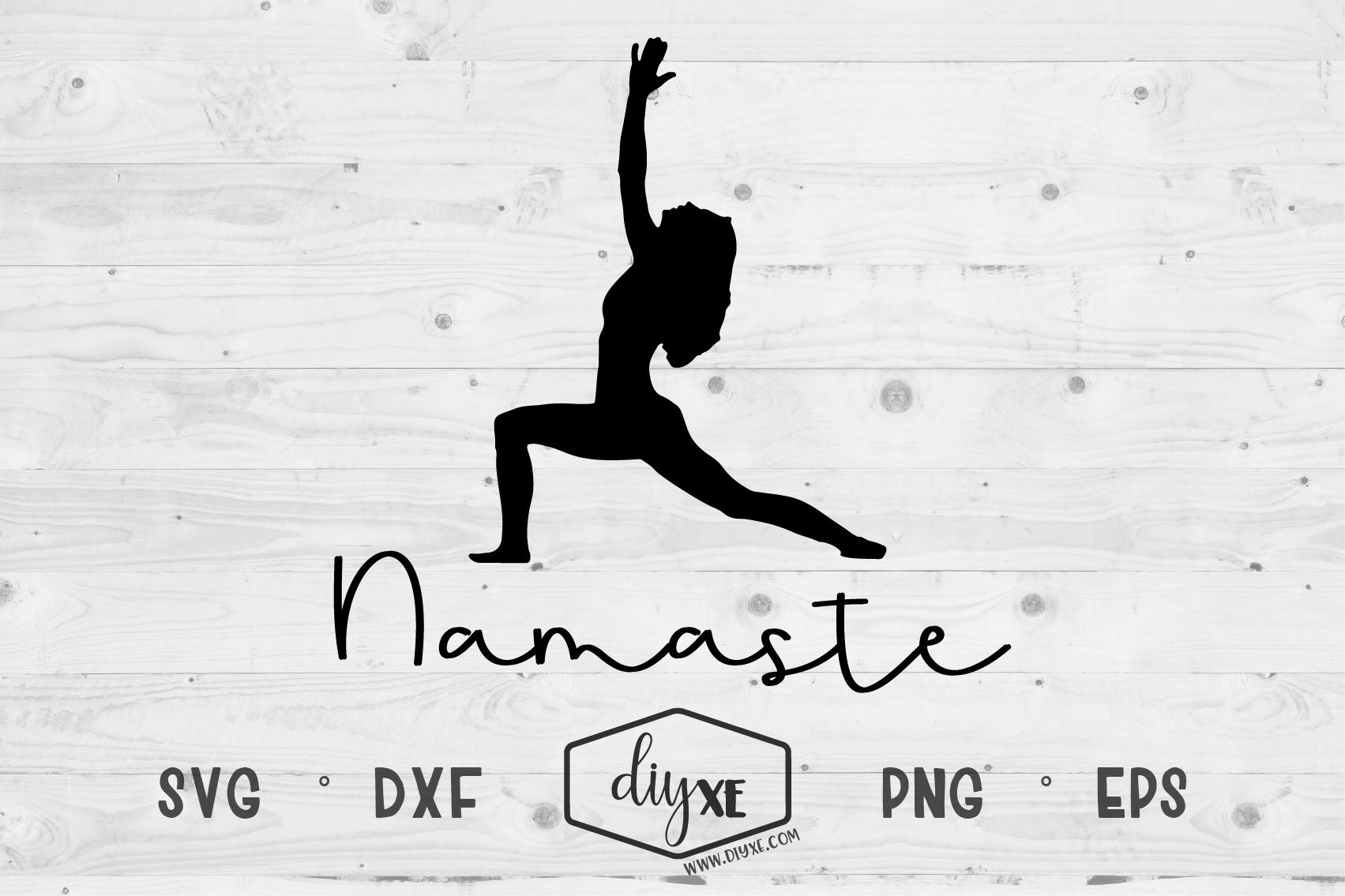 Namaste - A Yoga SVg Cut File example image 2