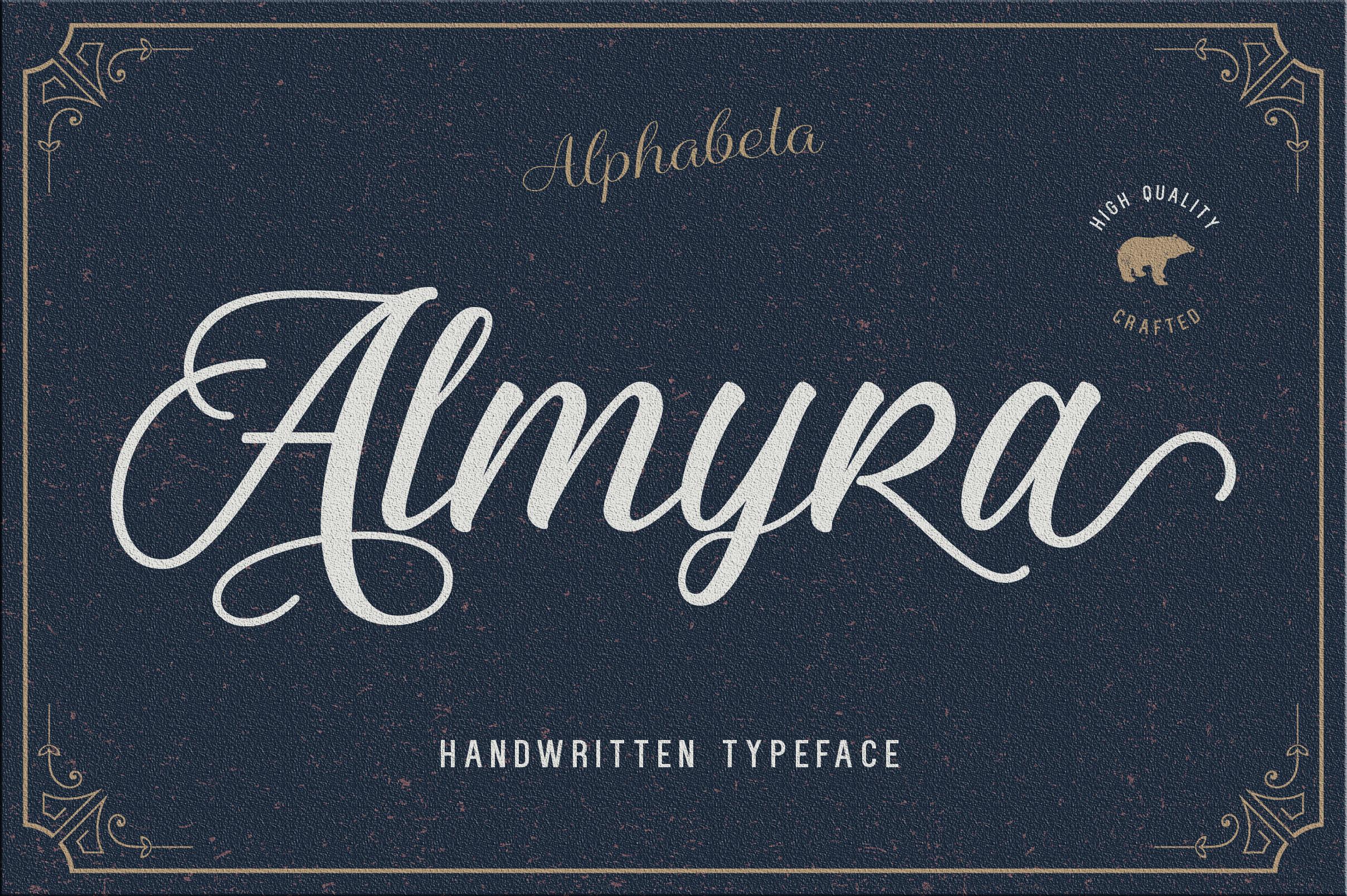 Almyra Script example image 4