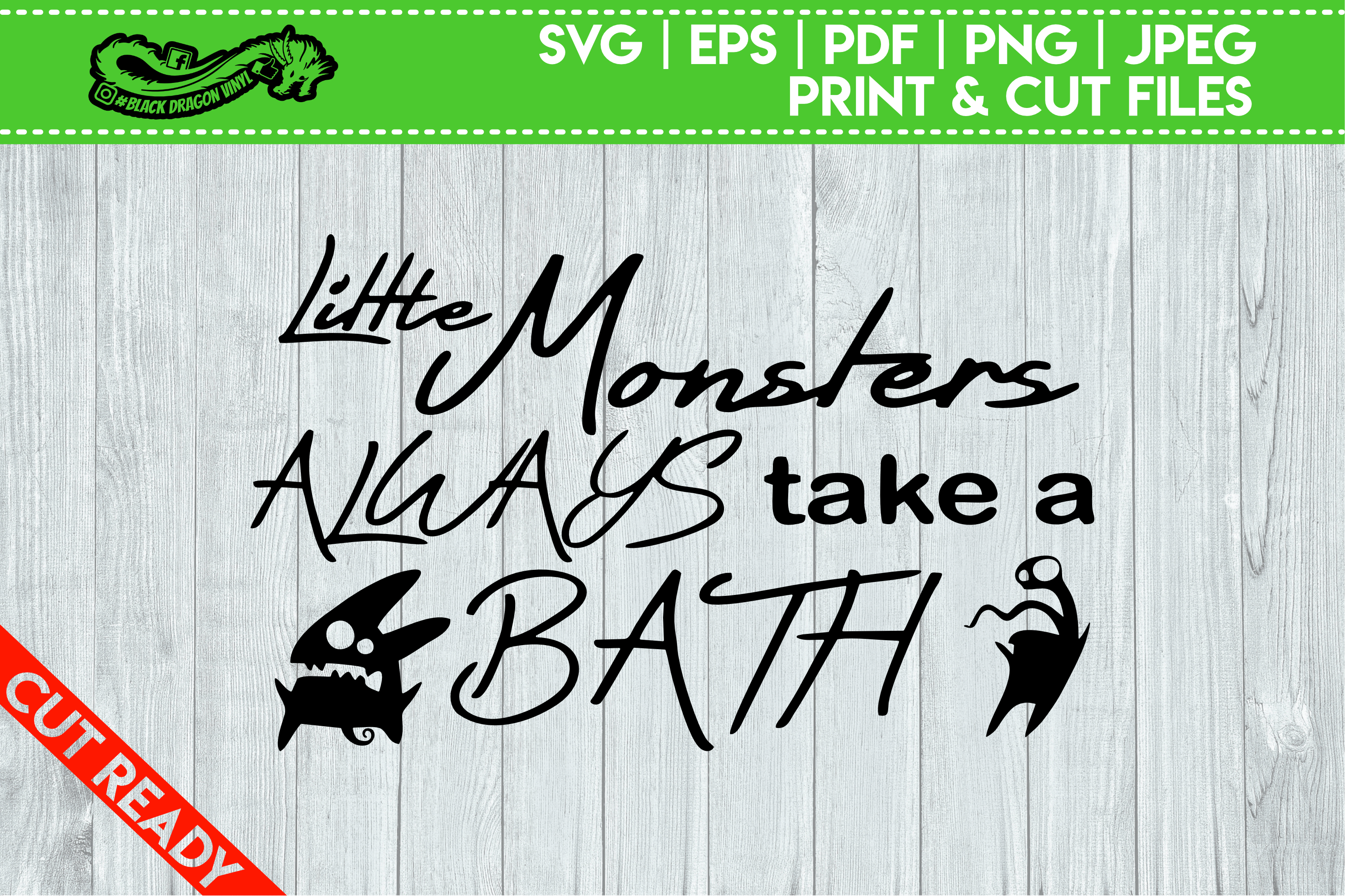 Little Monsters Always Take A Bath example image 1