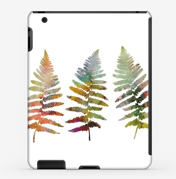 Fern leaves illustration in watercolor style example image 4