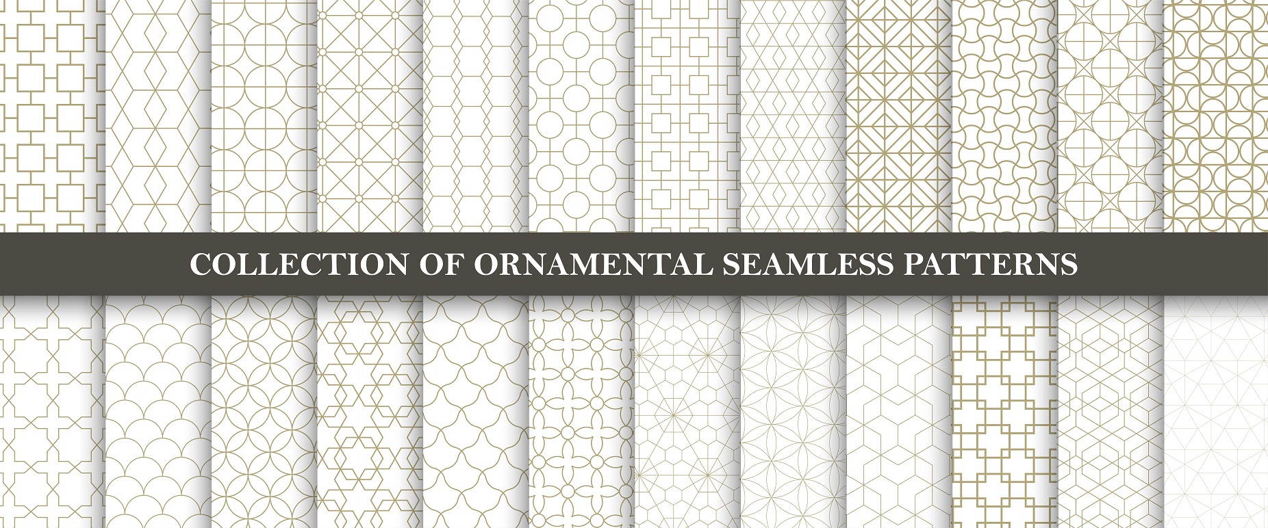 Set of ornamental seamless patterns example image 6