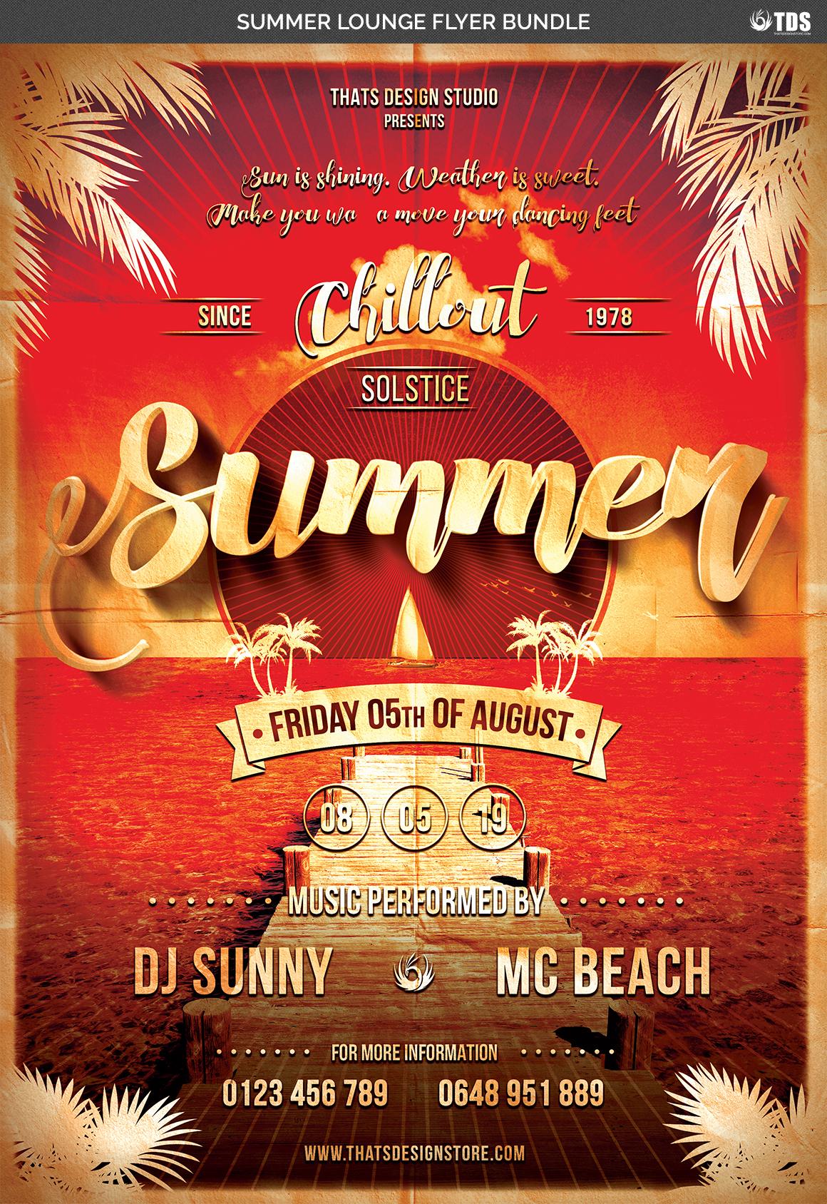 Summer Lounge Flyer Bundle example image 7