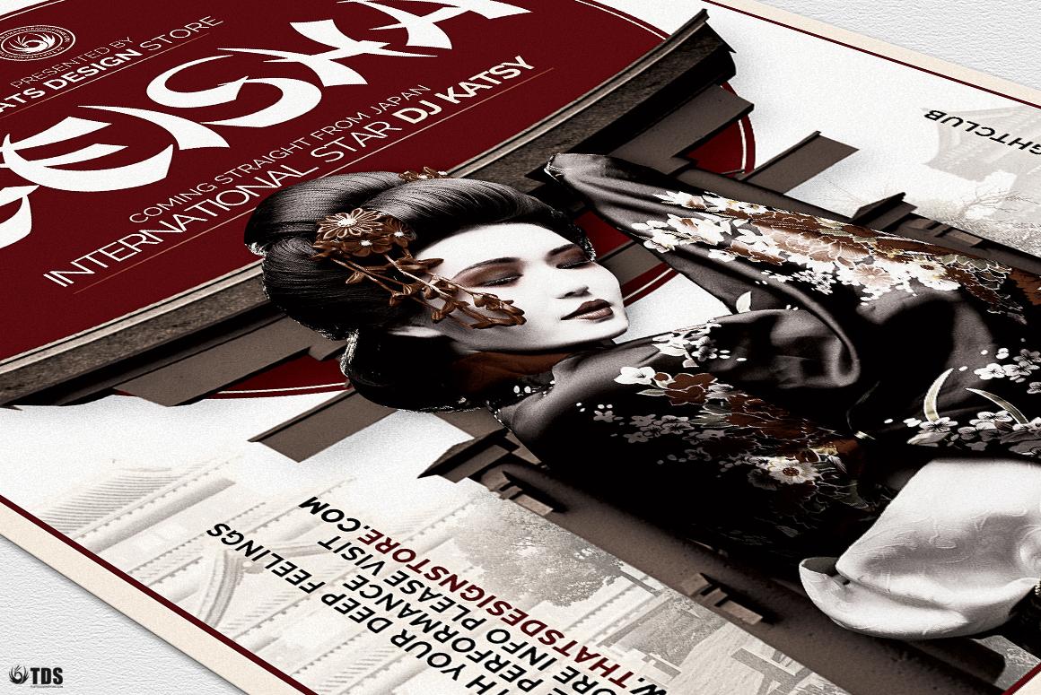 Geisha Night Flyer Template V5 example image 6