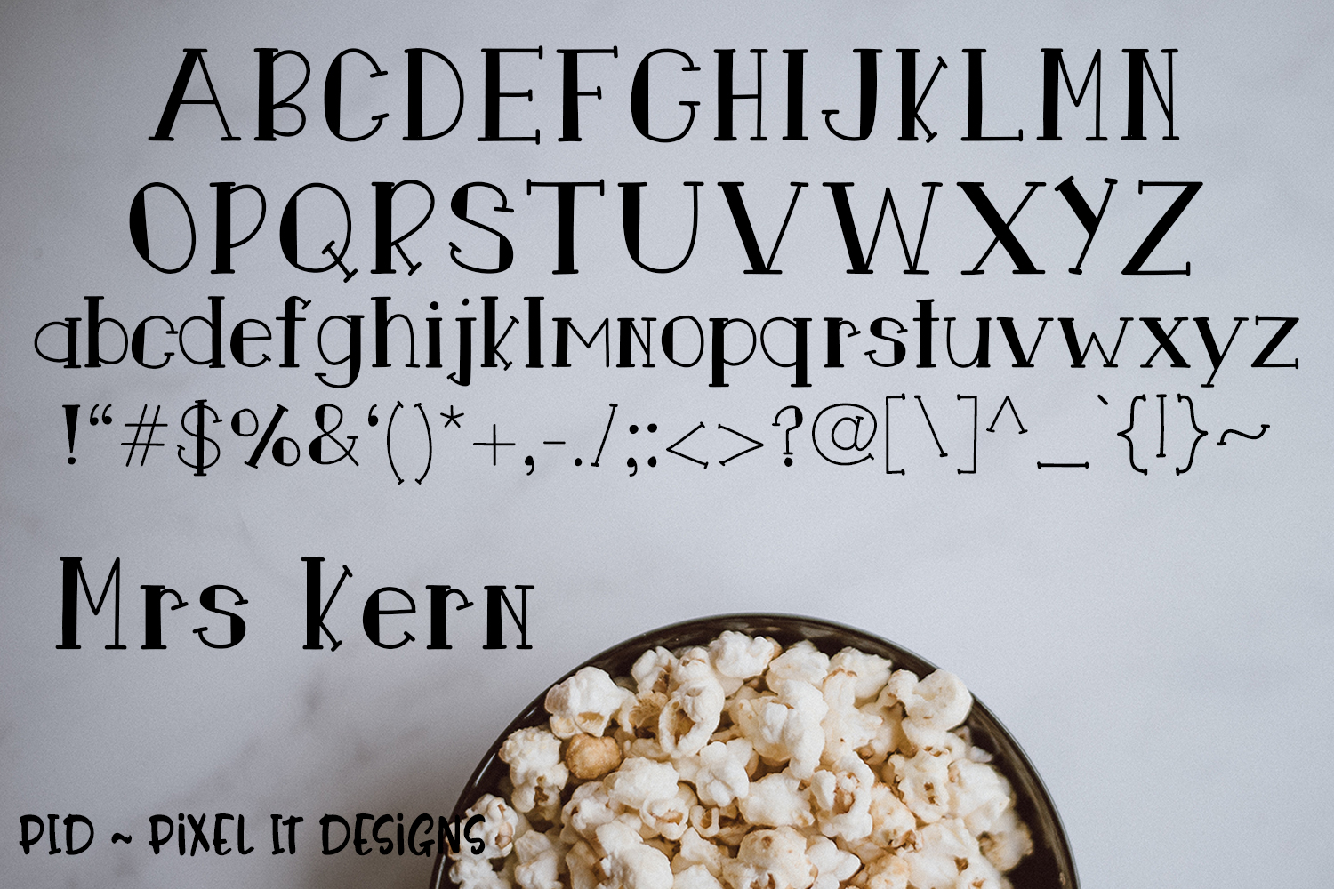 Mr and Mrs Kern An Open And Closed Font Duo example image 4