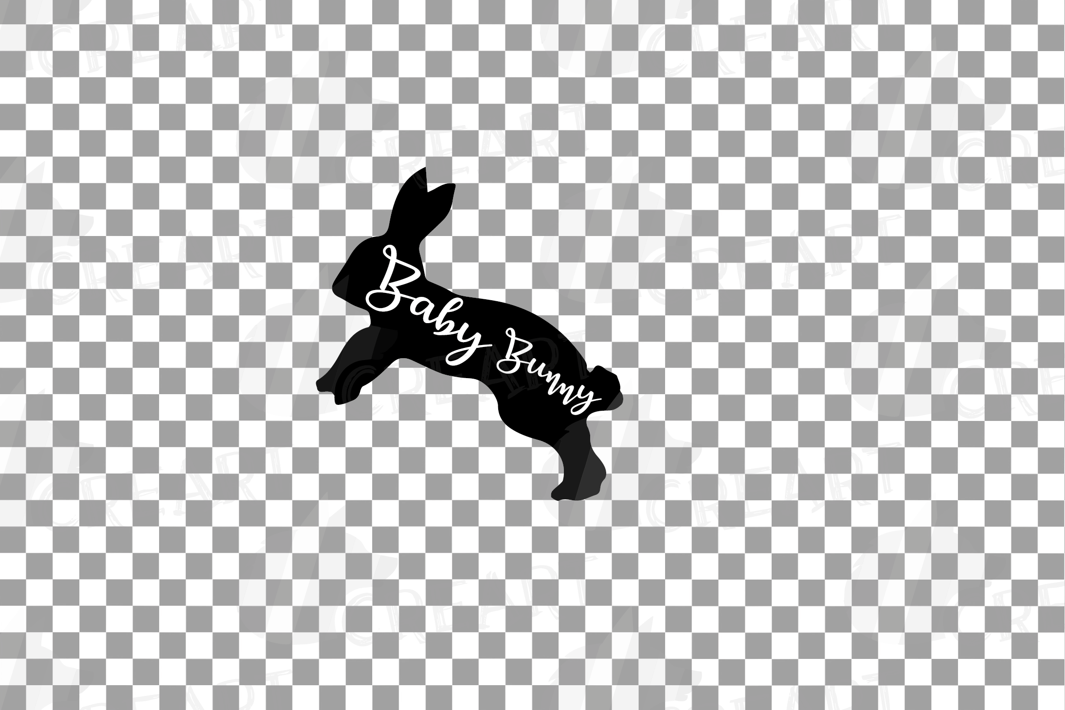 Rabbit family silhouettes, bunny silhouette svg cutting file example image 10