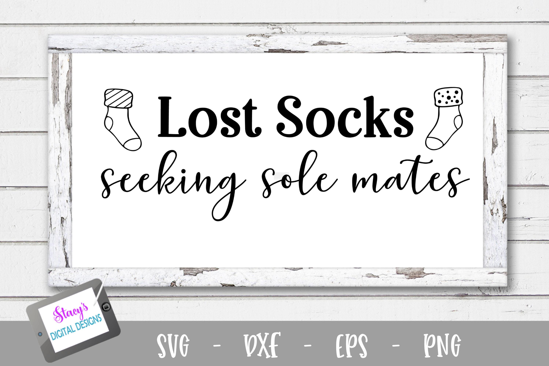 Laundry SVG - Lost socks seeking sole mates example image 1
