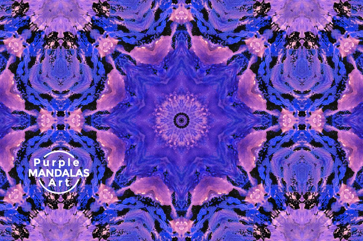 Purple MANDALAS Art example image 4