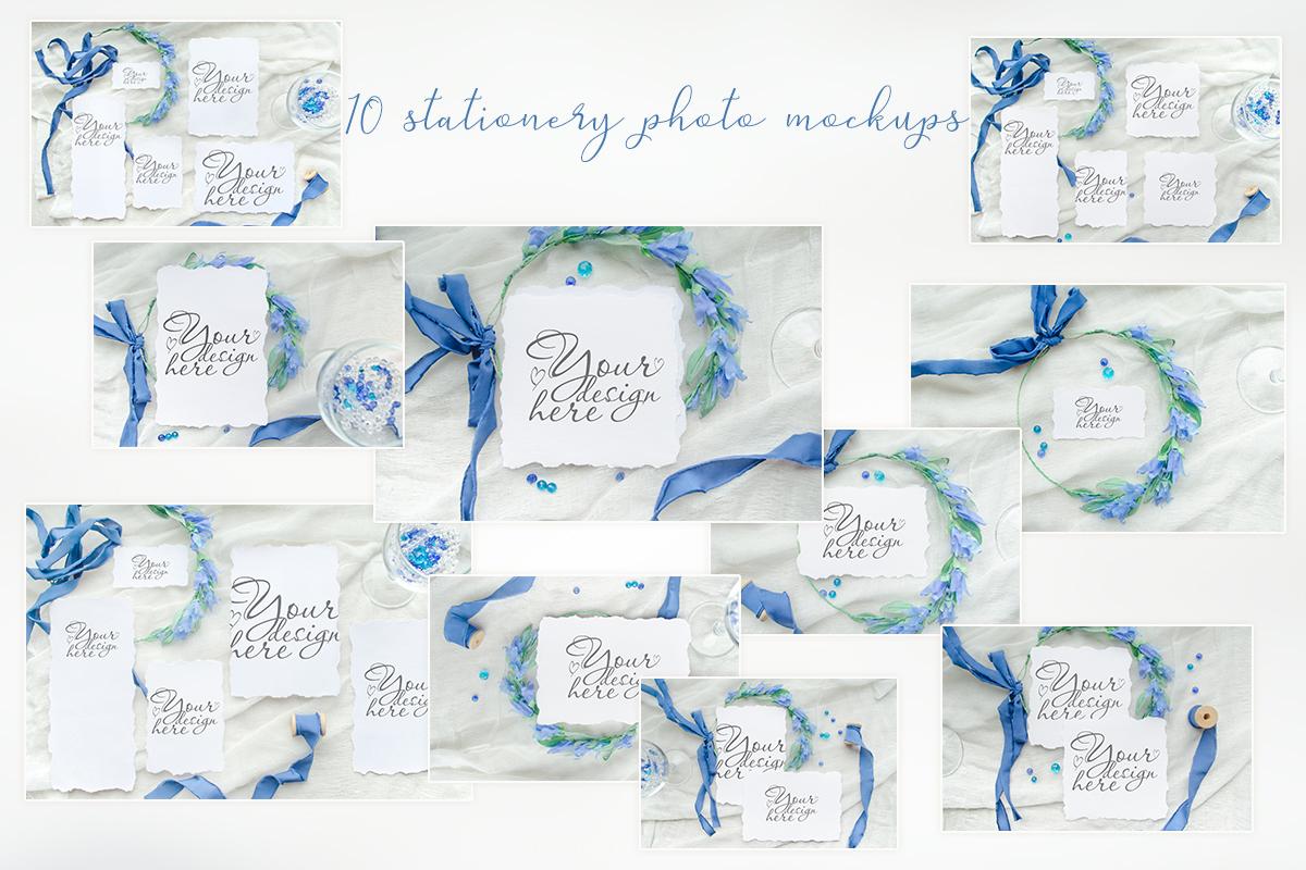 Something blue. Wedding mockups & stock photo bundle example image 2