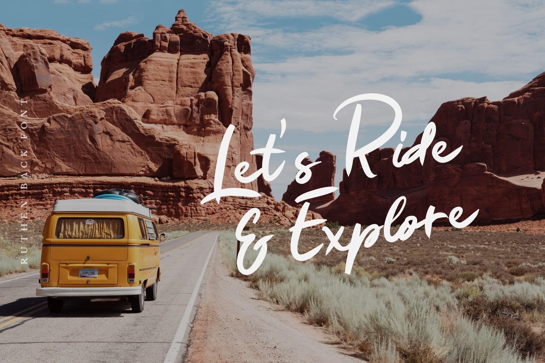 Ruthen Back - Stylish Font example image 2