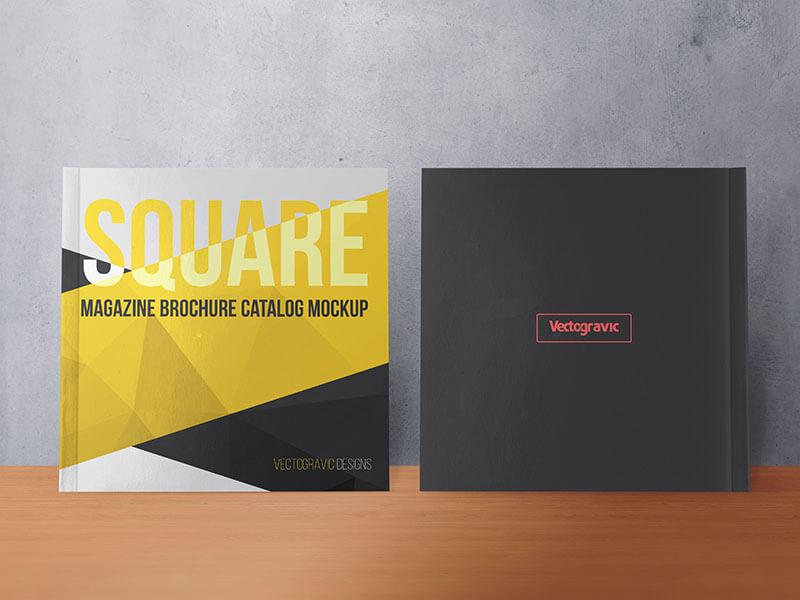SQUARE MAGAZINE BROCHURE CATALOG MOCKUPS example image 3