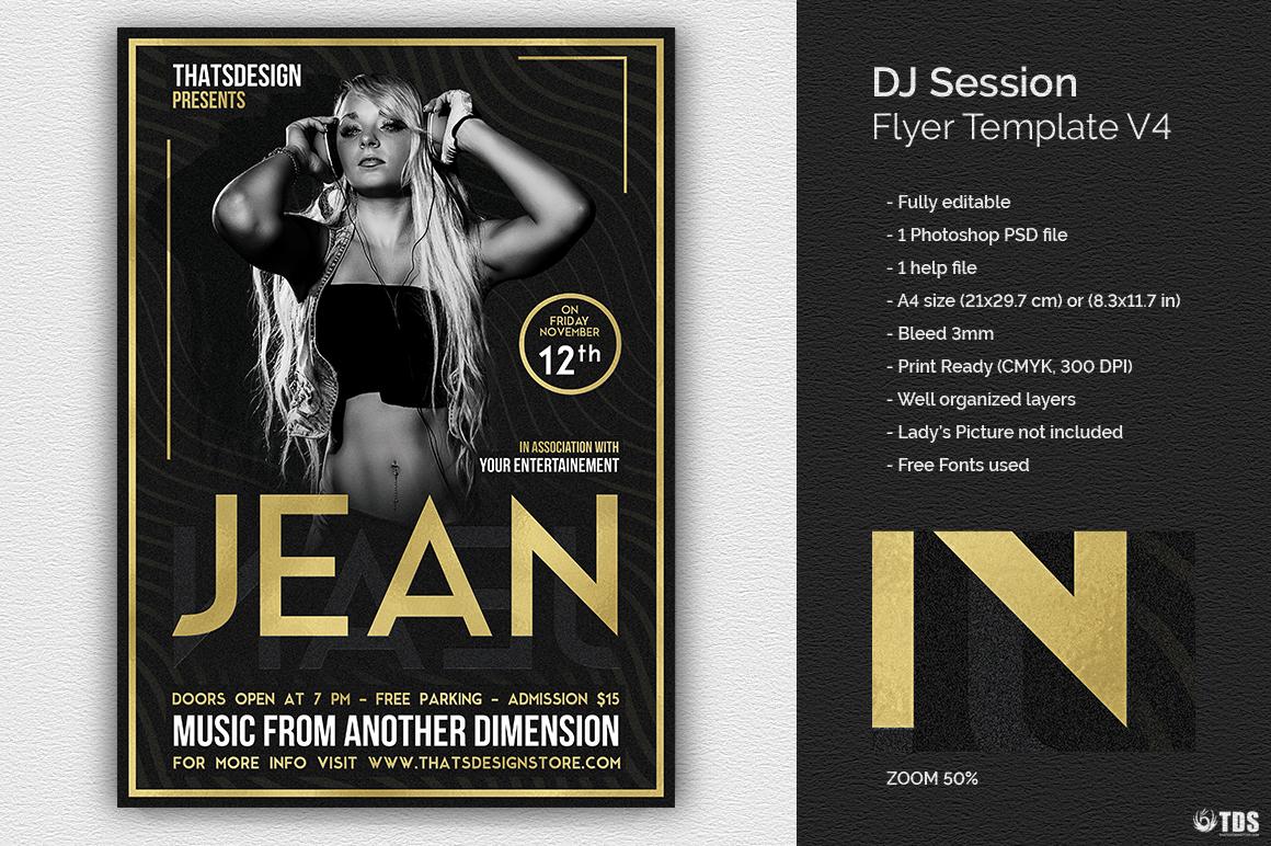 DJ Session Flyer Template V4 example image 1