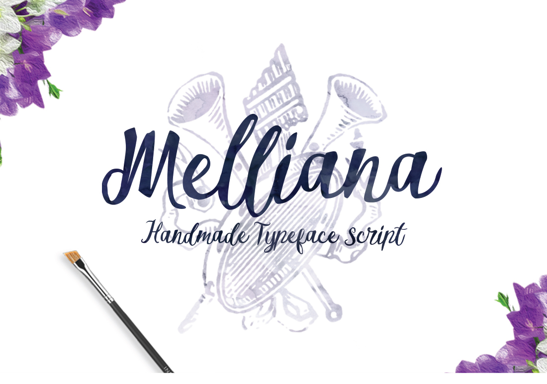 Melliana Script example image 1