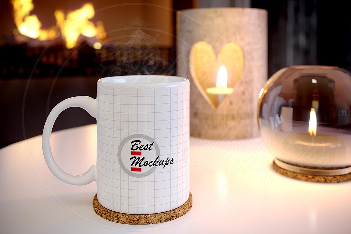 White coffee MUG mock up holidays example image 2