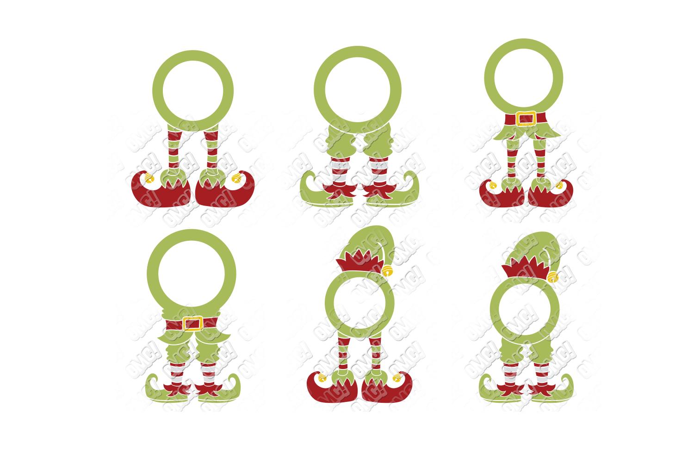 Elf SVG Bundle Monogram Quotes in SVG, DXF, PNG, EPS, JPEG example image 3
