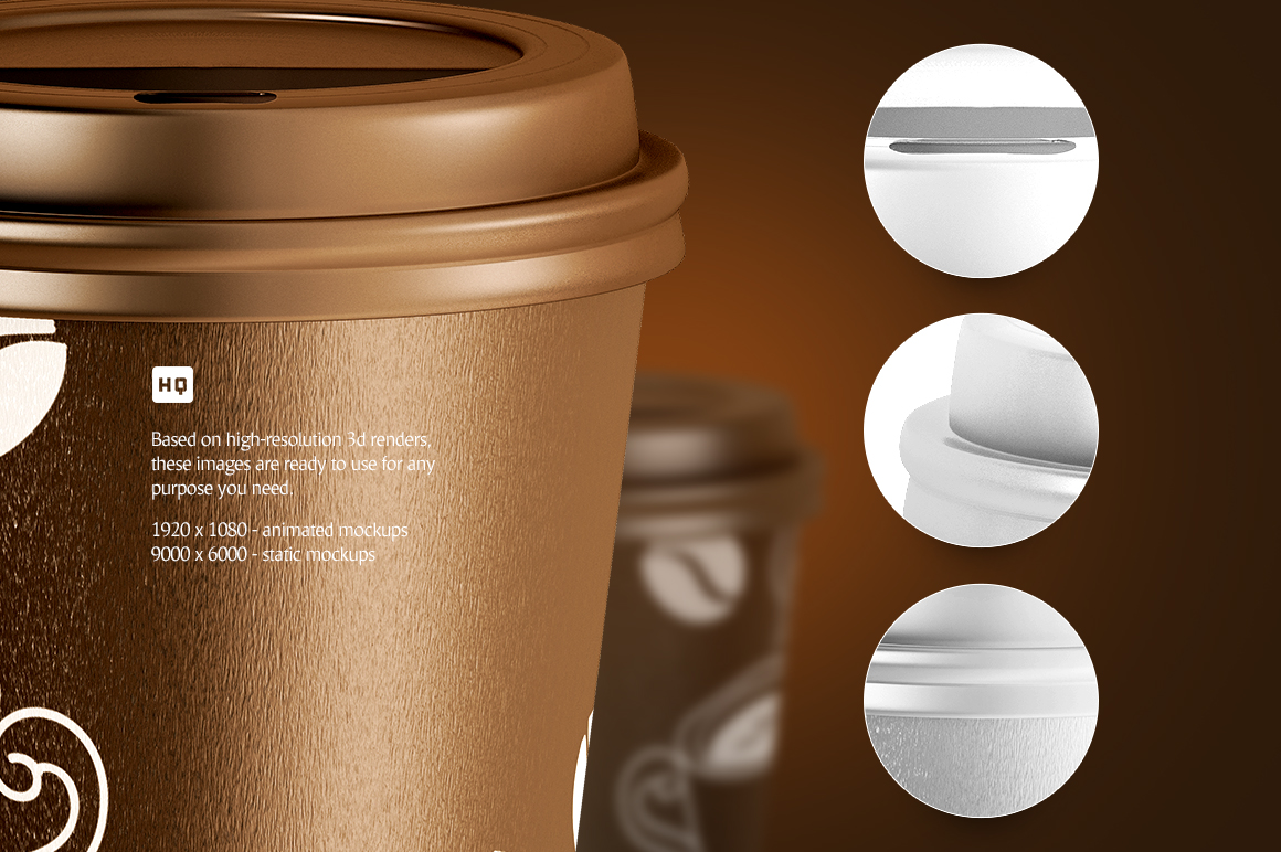Large Coffee Cup Animated Mockup example image 4
