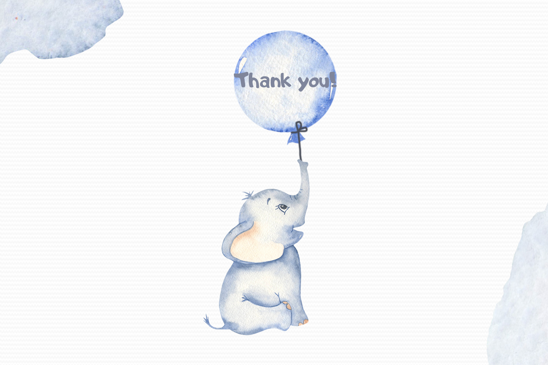 Cute elephants watercolor collection clipart example image 12