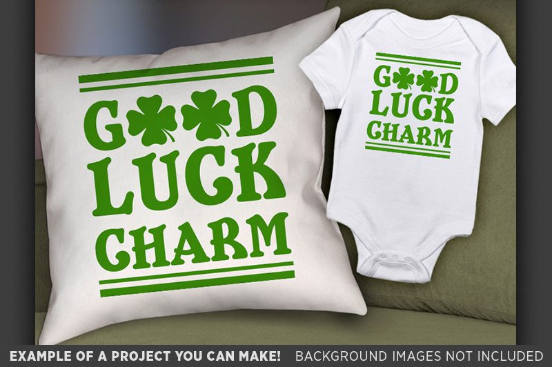 Good Luck Charm SVG - Kids St. Patricks Day - 1075 example image 2