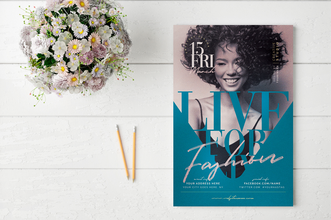 Live For Fashion Flyer Template example image 2