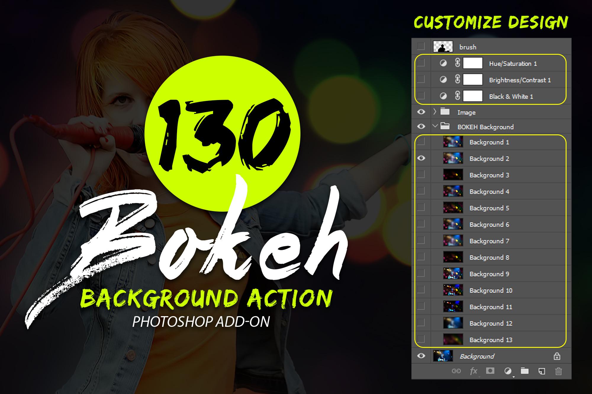 130 Bokeh Photoshop Action example image 5