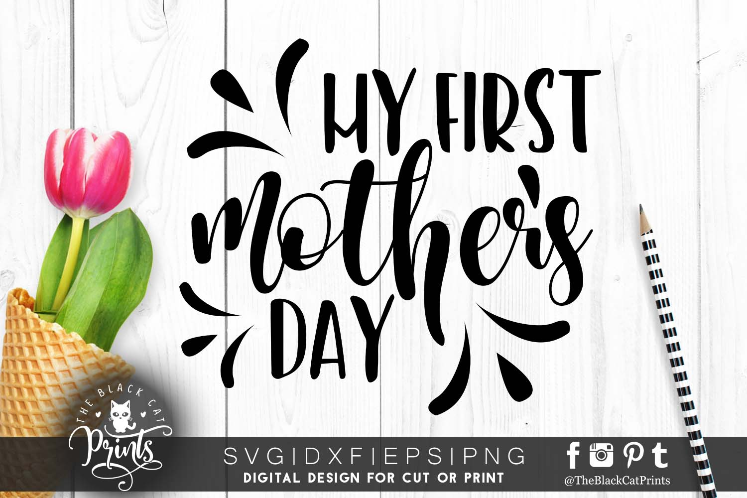 My first mother's day SVG PNG EPS DXF example image 3