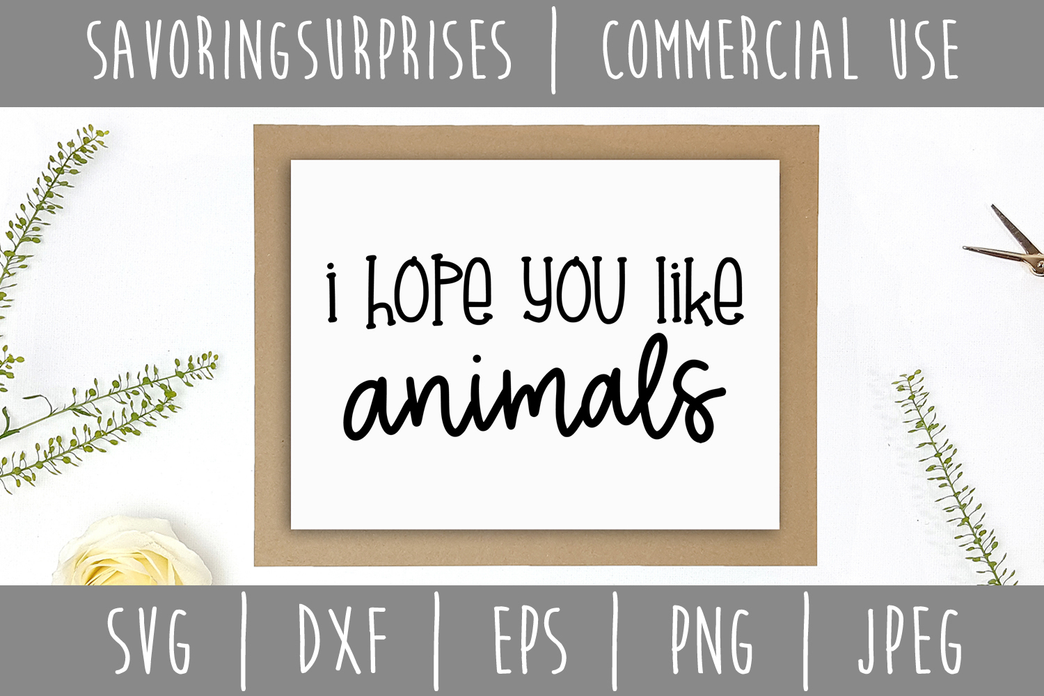 I Hope You Like Animals Doormat SVG, DXF, EPS, PNG JPEG example image 2