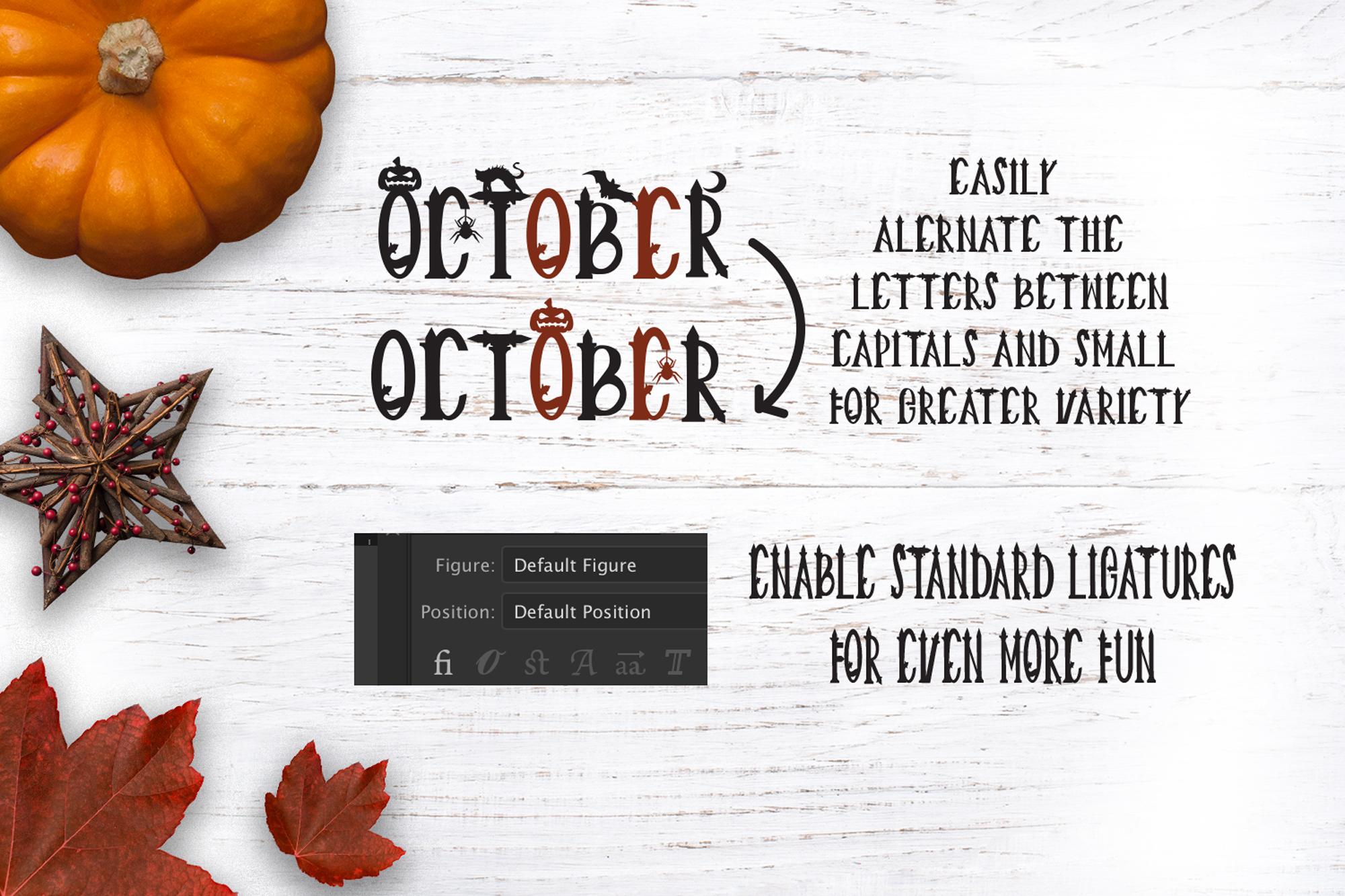 Creepy Halloween Font example image 5