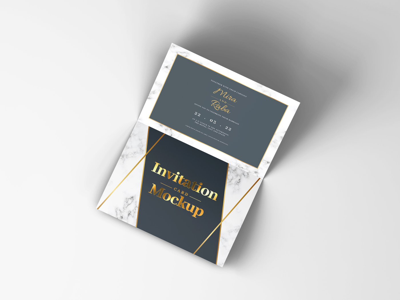 Invitation Card Mockups V1 example image 6