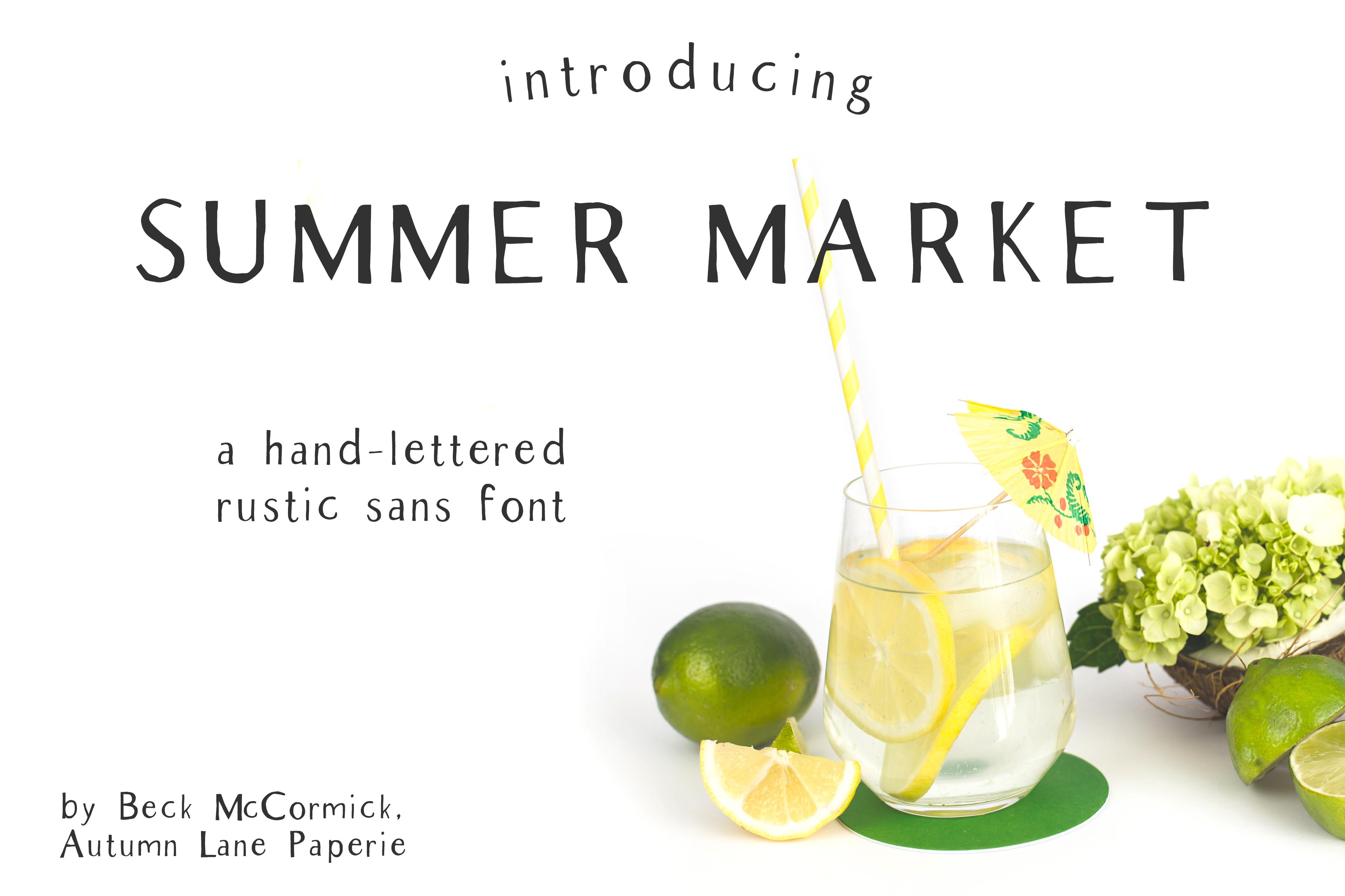 Summer Market Rustic Sans Font example image 1