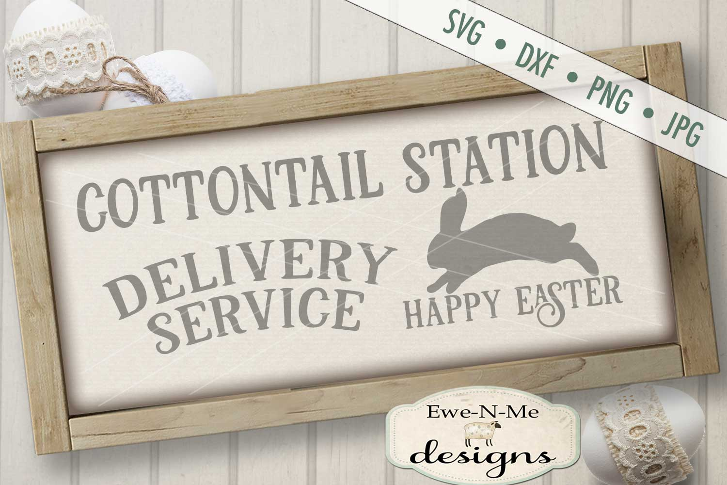Easter Cottontail Bundle Easter Bunny Rabbit SVG DXF Files example image 6