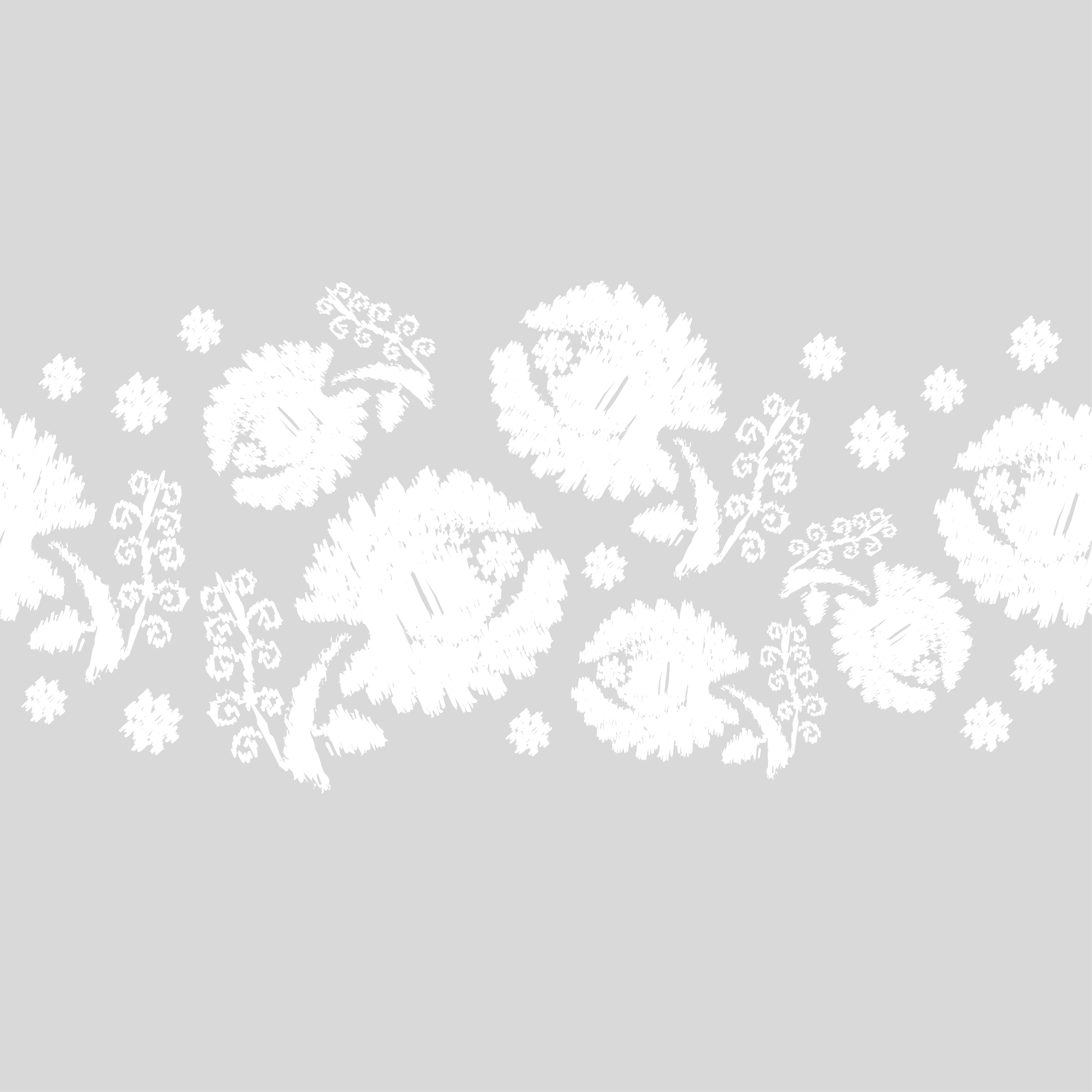 Set of 6 Seamless vector background. White flowers on a gray background. example image 2