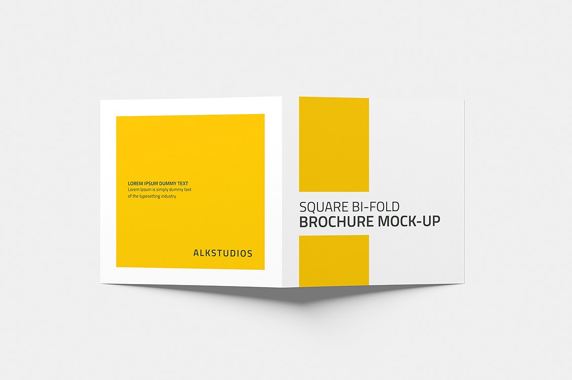 Square Bi-fold Brochure Mock-Up example image 3