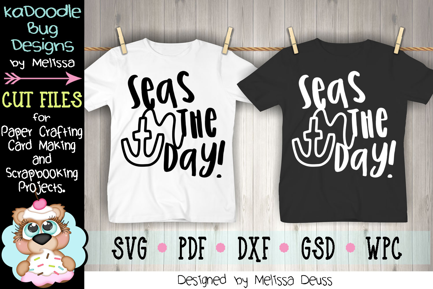 Seas The Day Cut File - SVG PDF DXF example image 3