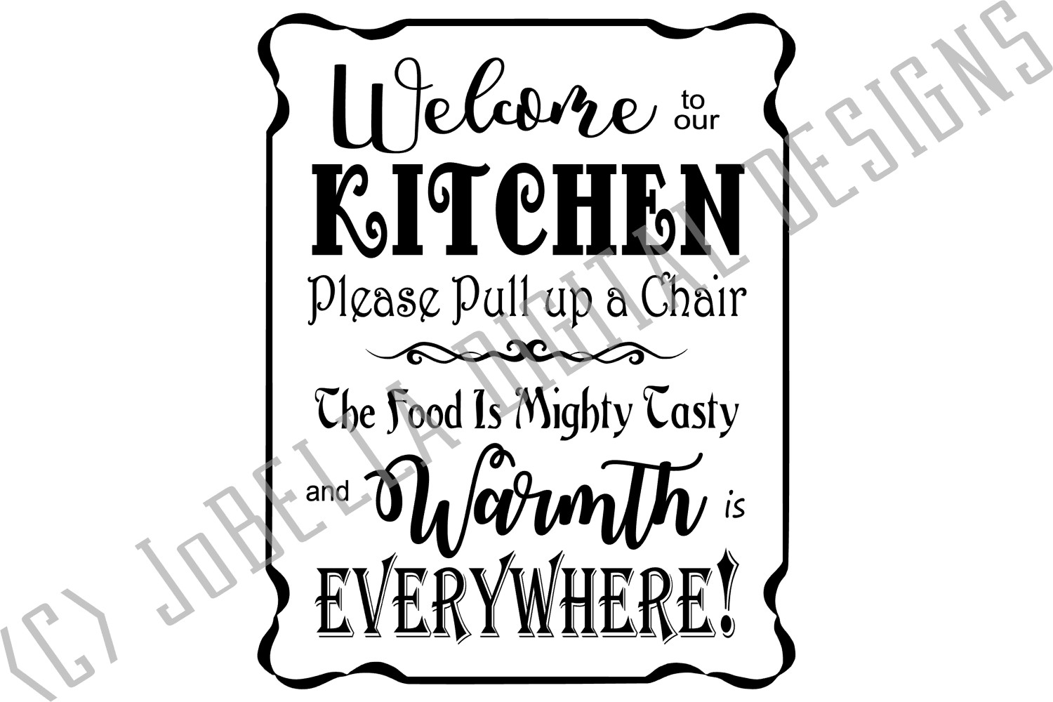 Welcome To Our Kitchen SVG and Printable Farmhouse Design example image 2