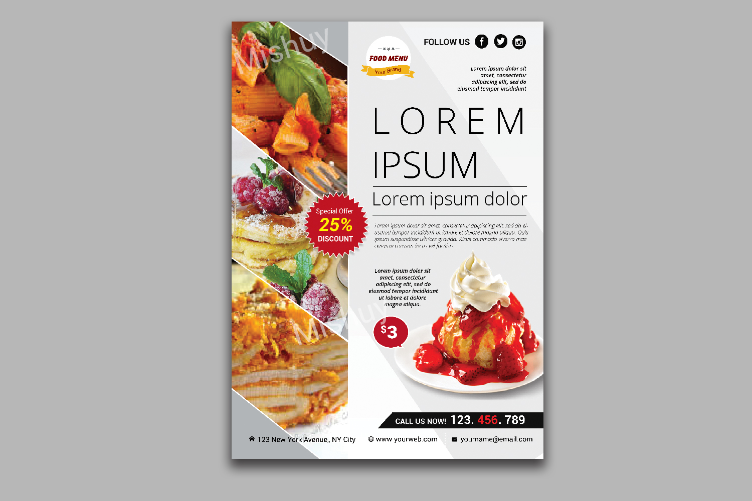 Food Flyer Template example image 1