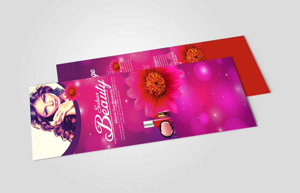 Beauty Salon Rack Card Template example image 2
