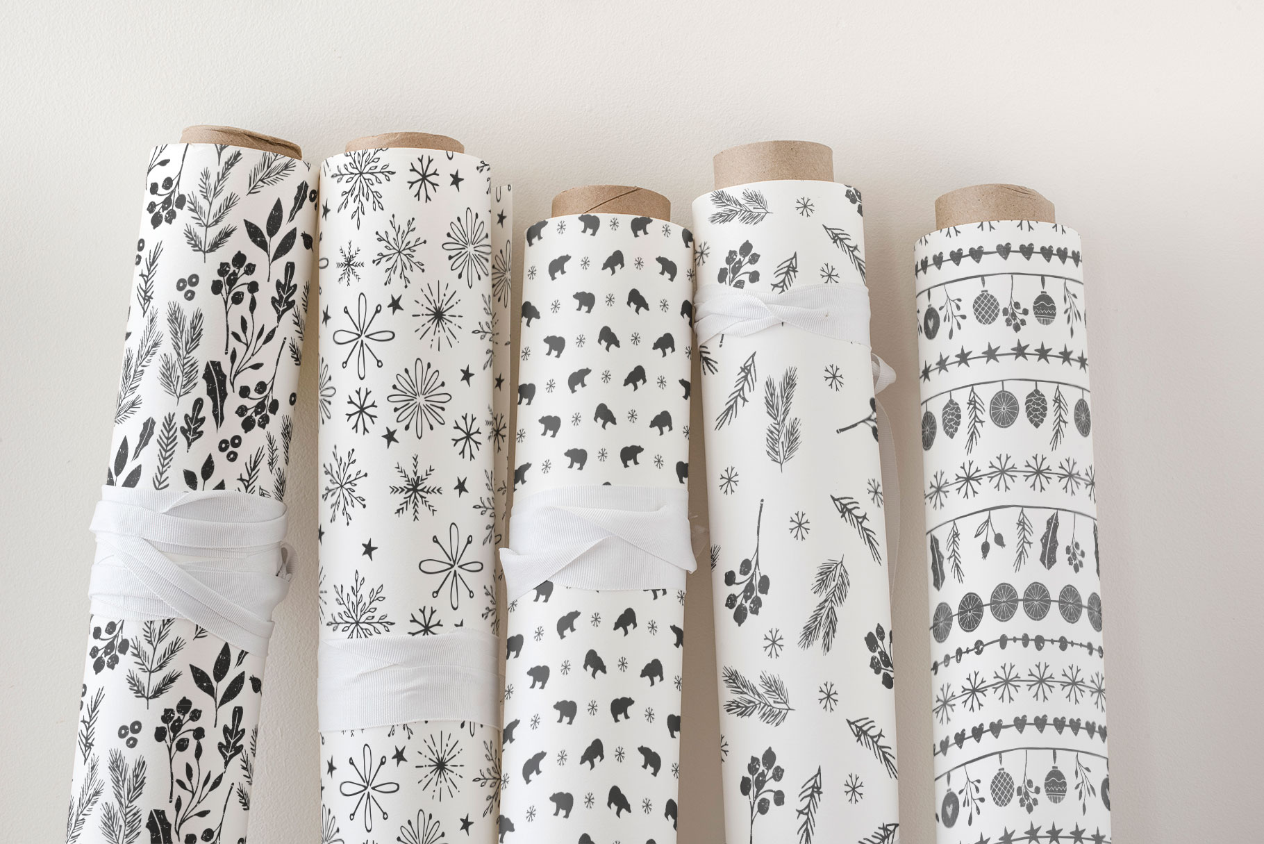 Scandinavian Christmas Patterns example image 4