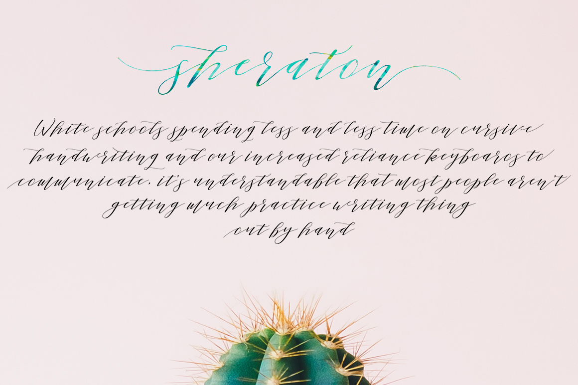 Sheraton Script example image 3