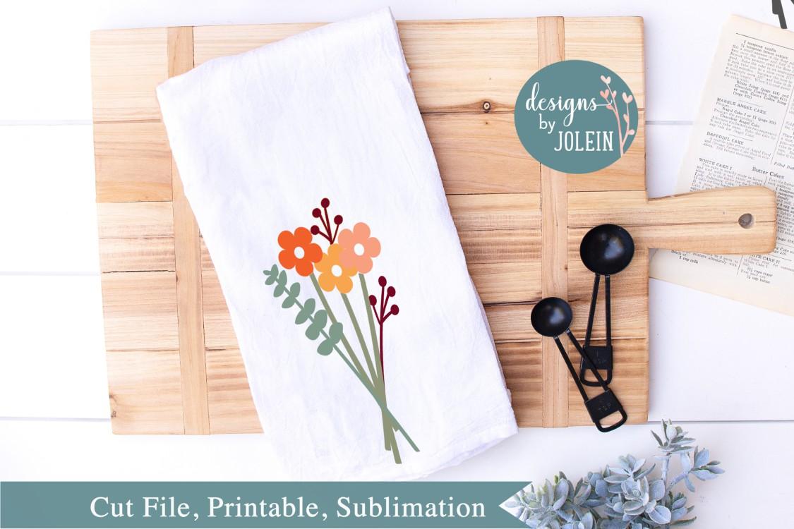 Autumn Floral Bouquet SVG, png, eps, sublimation, dxf, jpeg example image 2