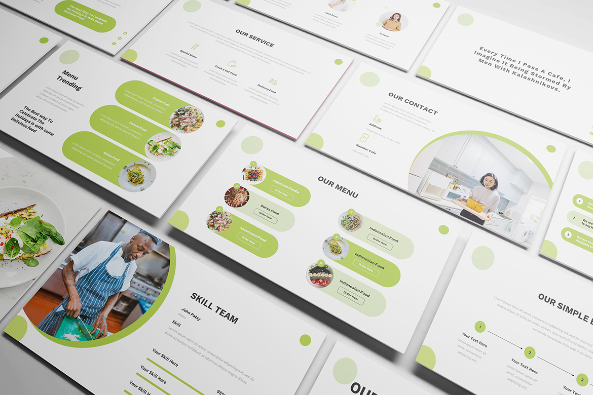 Food Powerpoint Template example image 4