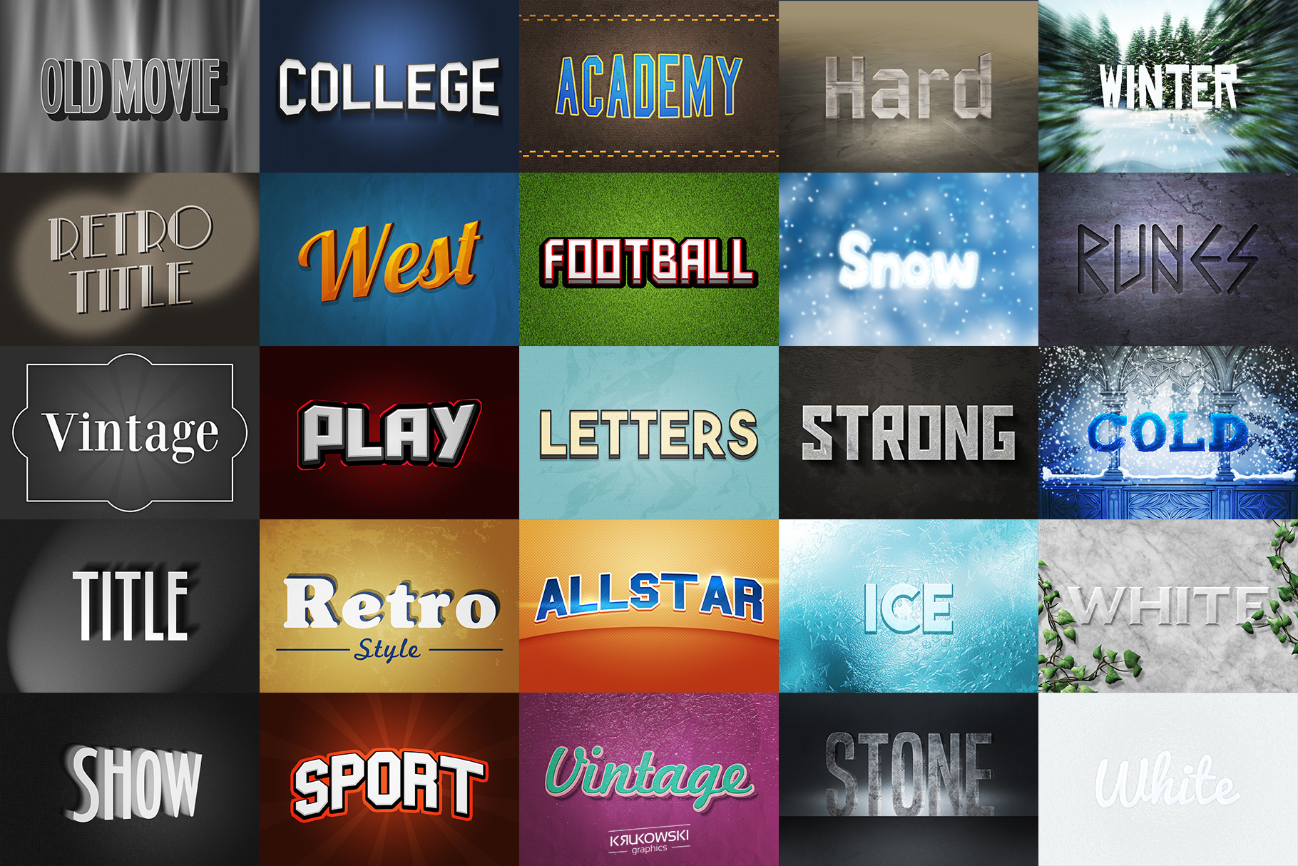 Text Effects Styles Bundle for Photoshop  example image 3