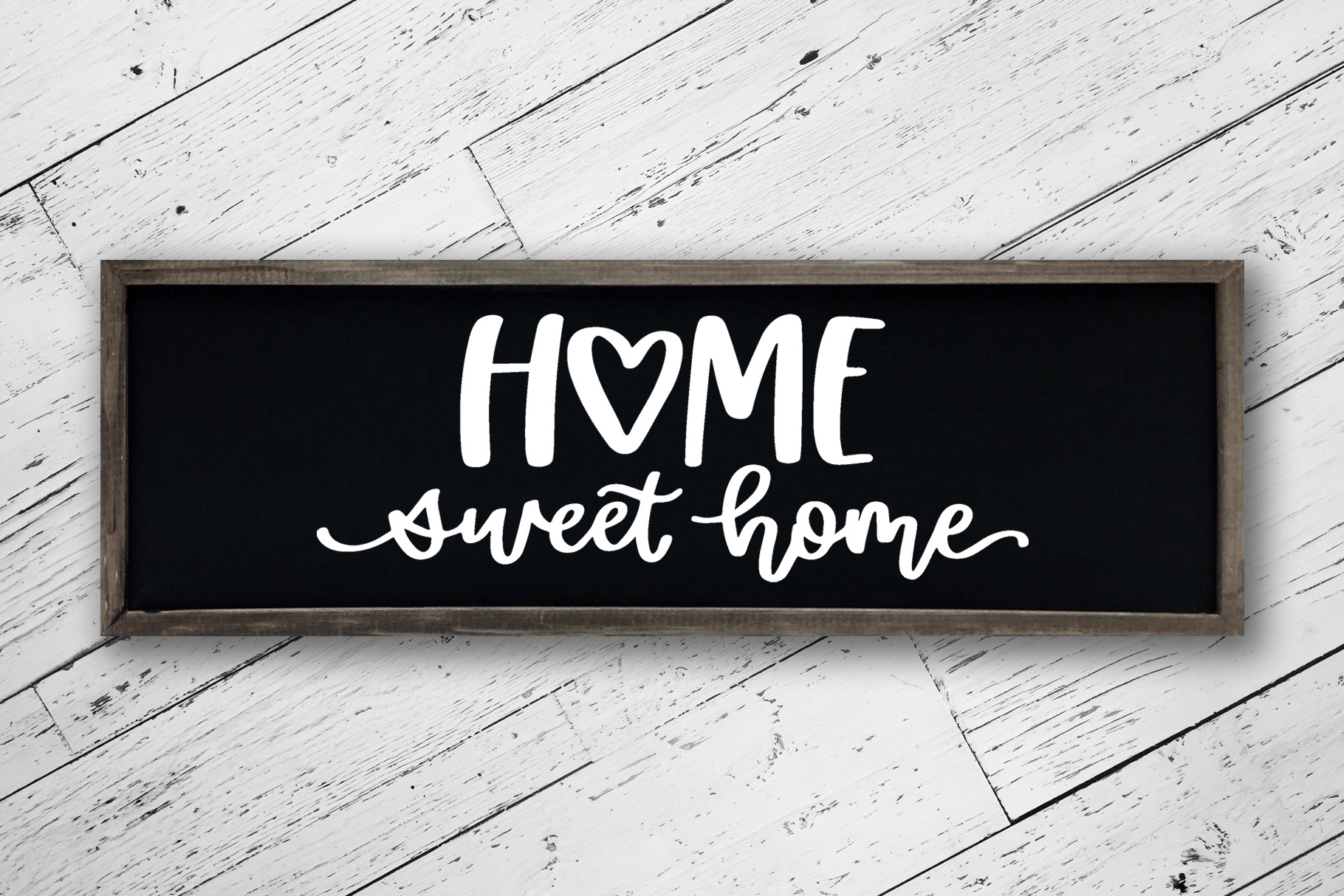 Home Sweet Home Heart, Hand Lettered SVG Cut File example image 3