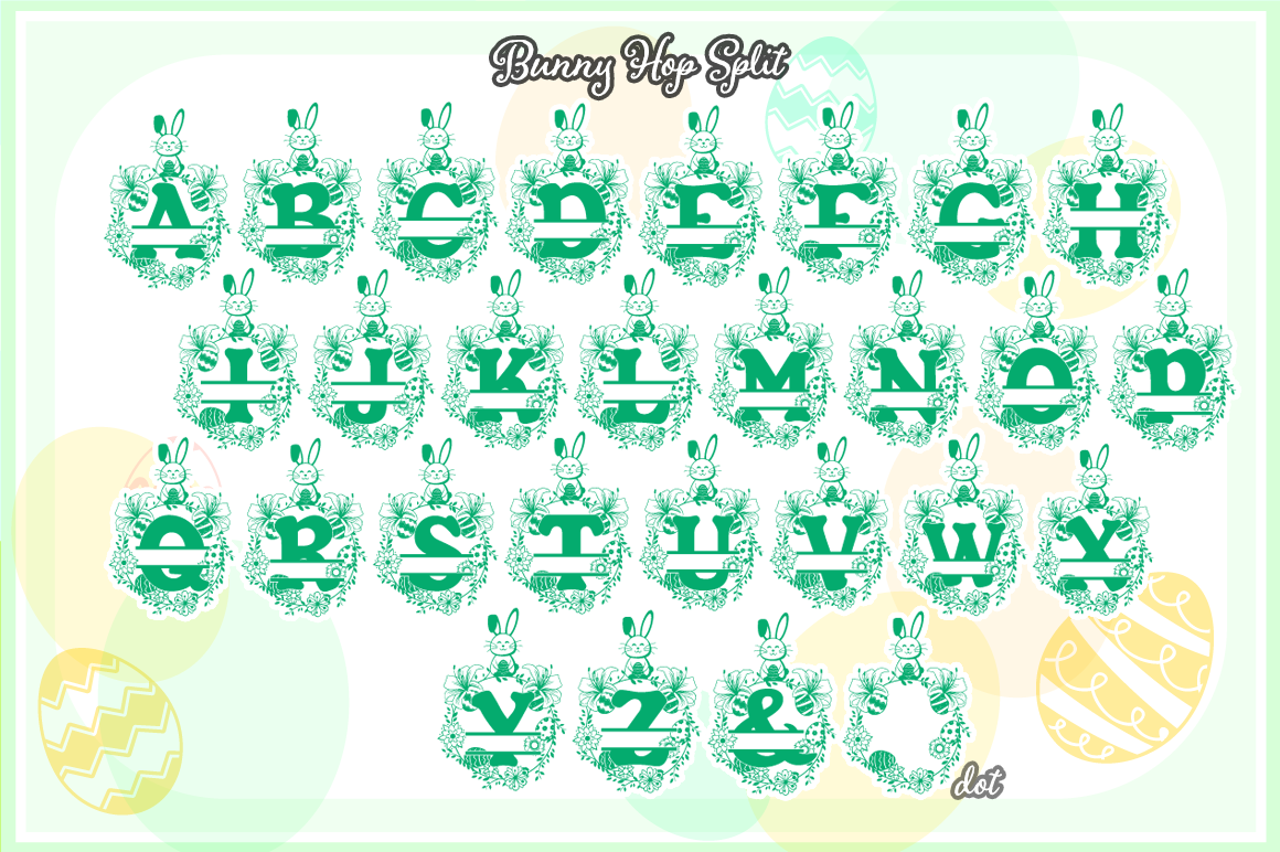 The Bunny Hop Split Font example image 2