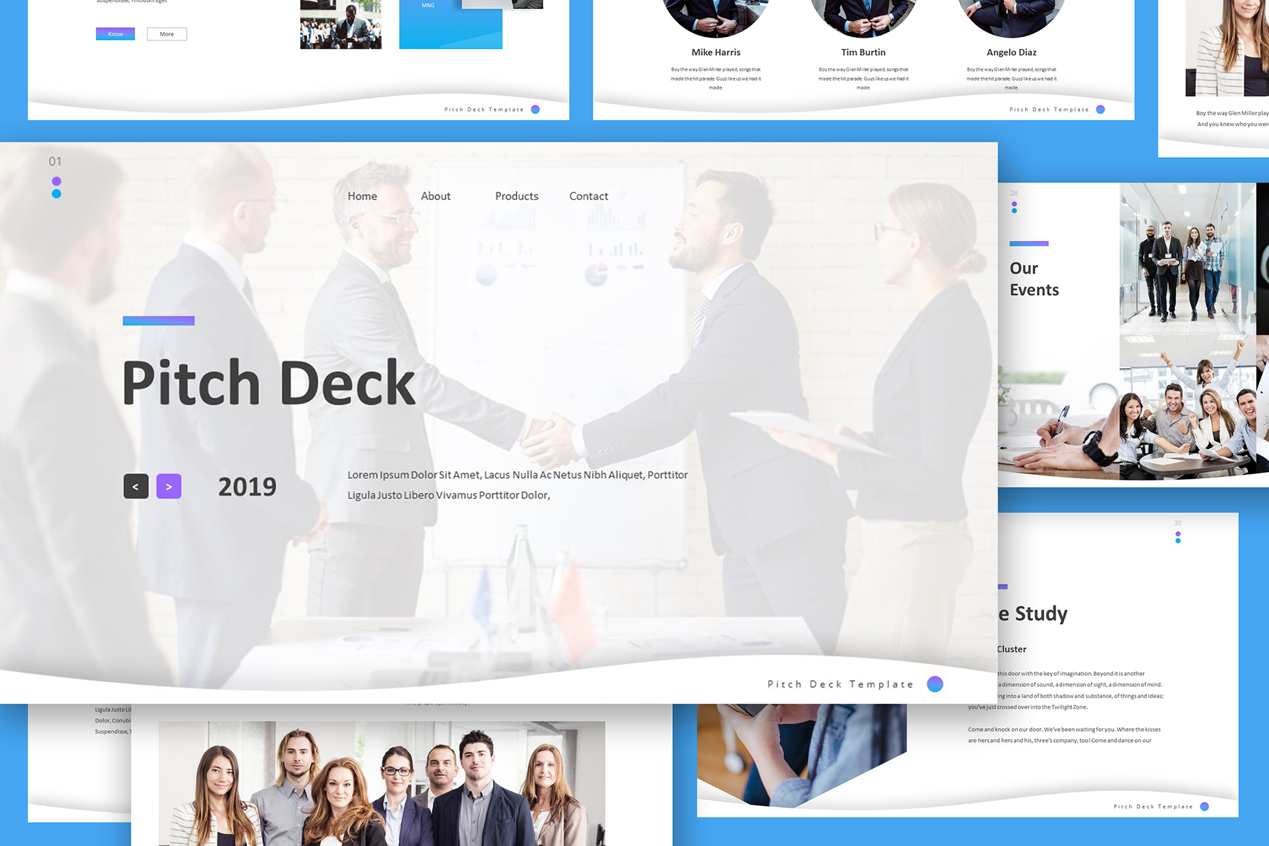 Pitch Deck Google Slides Template example image 1