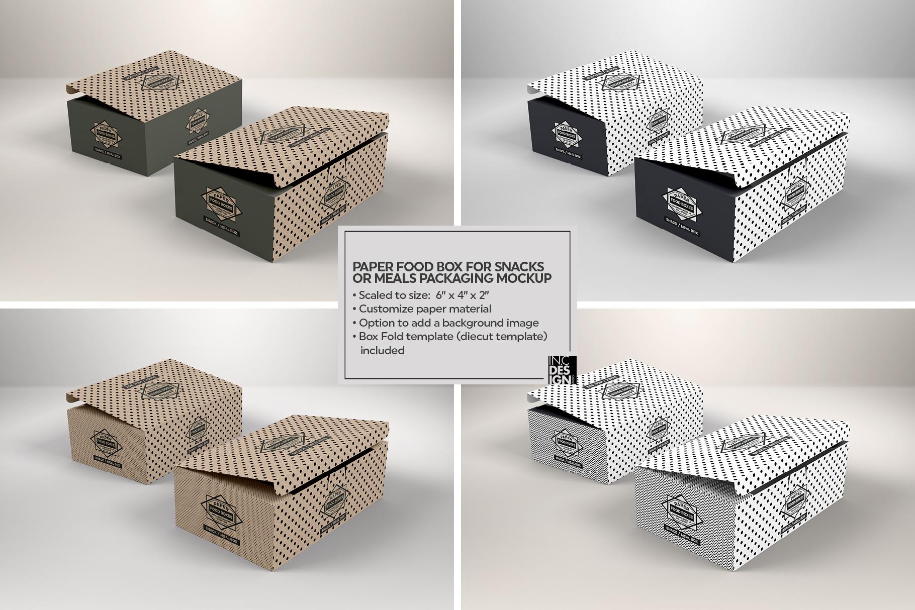 VOL.1 Food Box Packaging MockUps example image 19