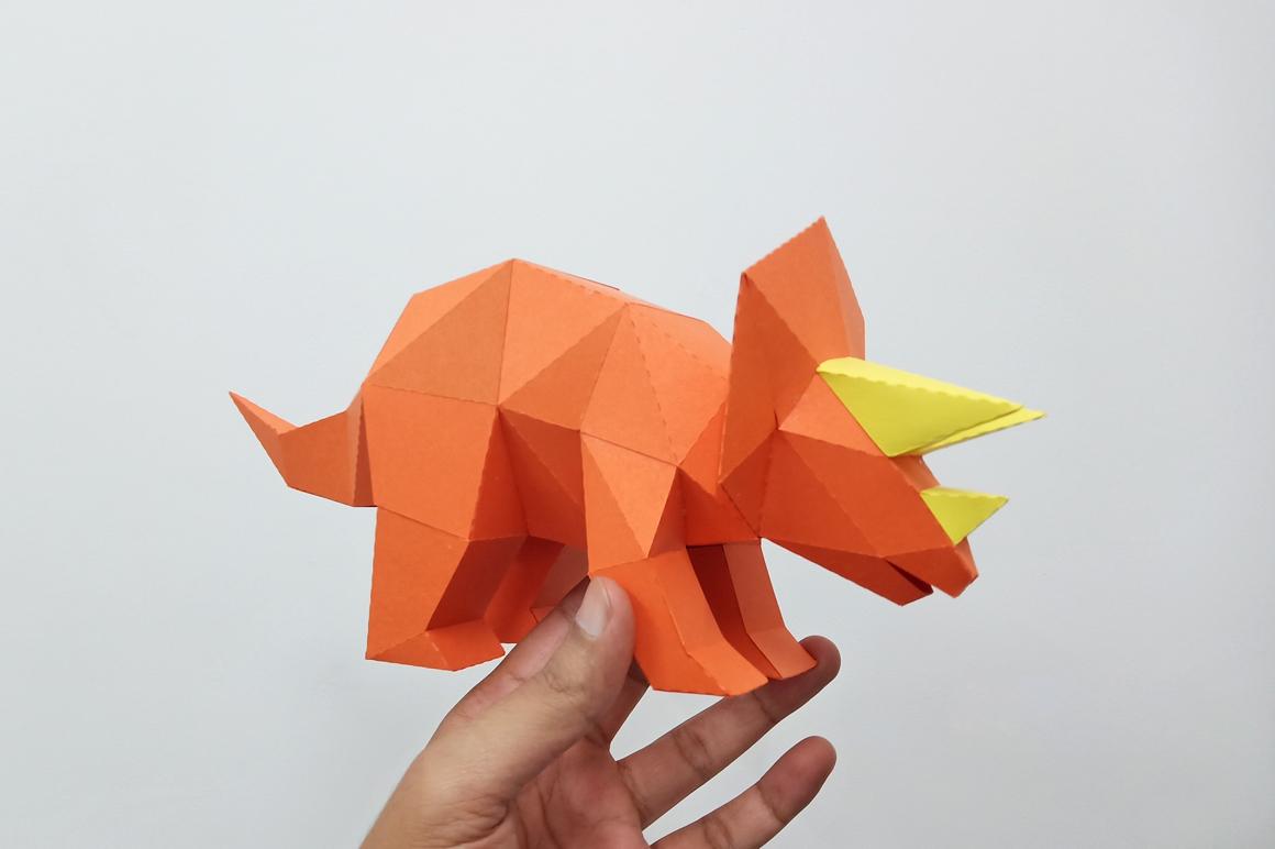 DIY Triceratops - 3d papercraft example image 4