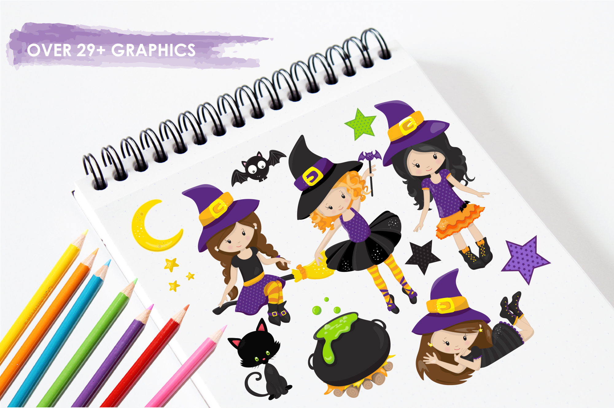 Tweeny Witch graphics and illustrations example image 3