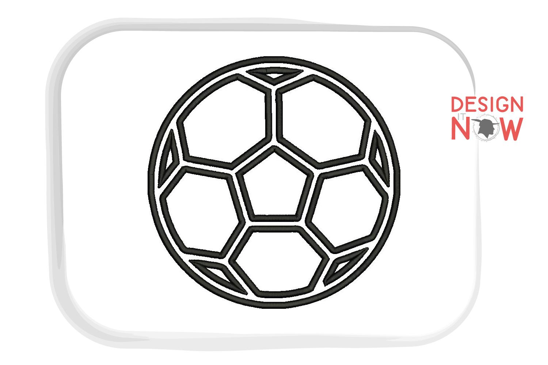 Soccerball Applique Design, Sport Embroidery, Ball Applique example image 4