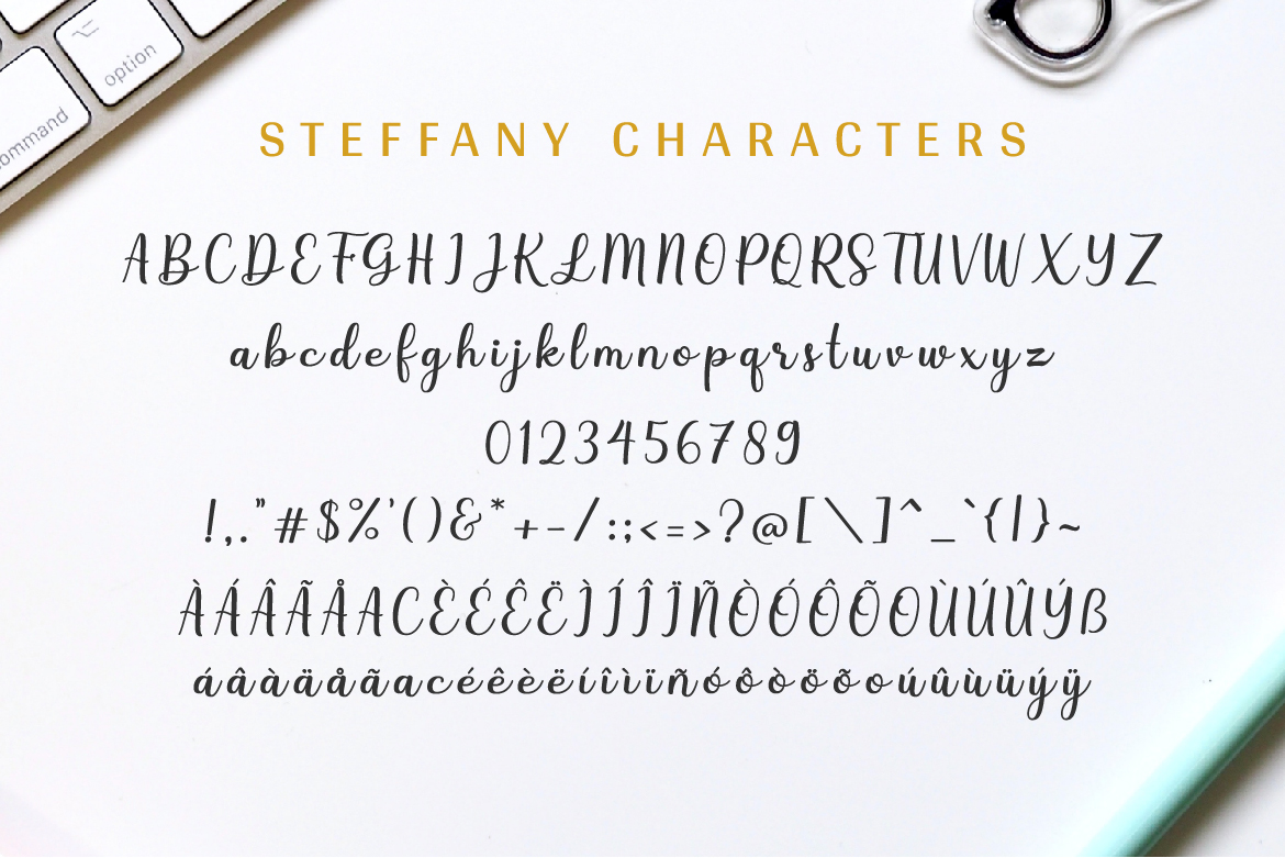 Steffany - Handwriting Font example image 5