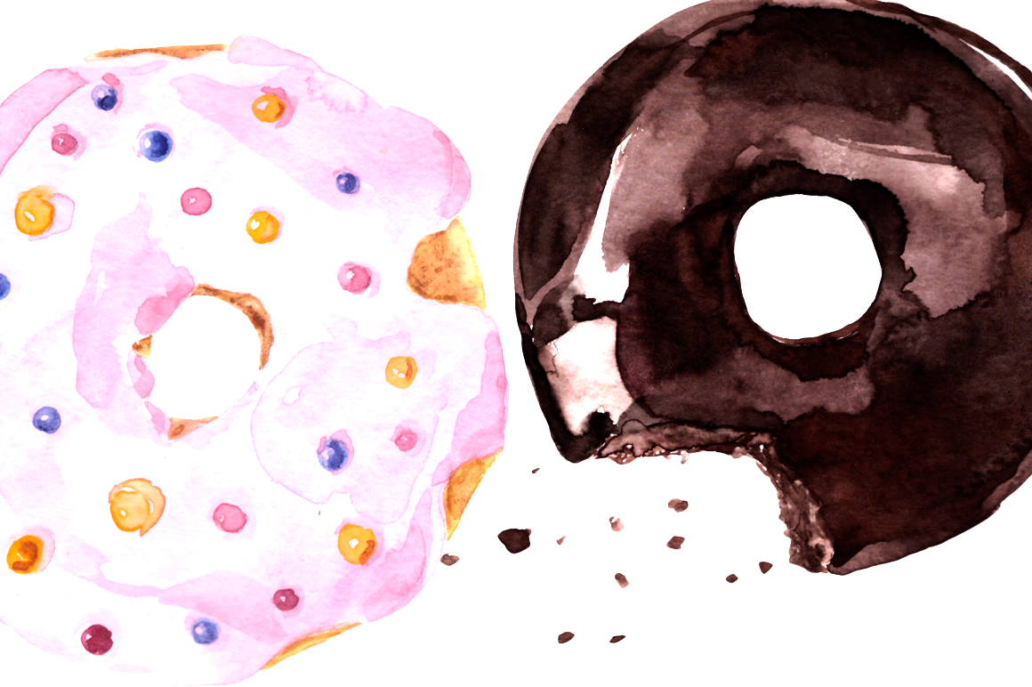Watercolor Sweets Clip Art Set example image 2
