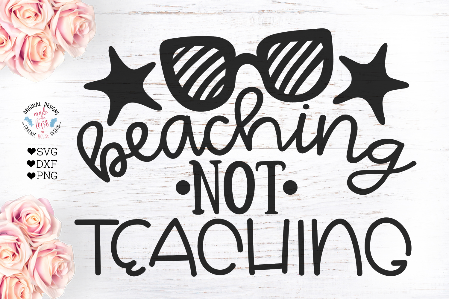 Beaching Not Teaching- Teacher Cut File example image 2